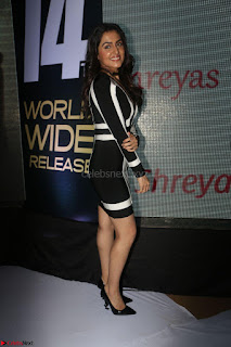 Ananya Soni in a Deep neck white blackl Dress at Shamanthakamani pre release function ~  Exclusive 054.JPG
