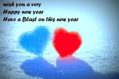 Lovely heart New Year Wishes