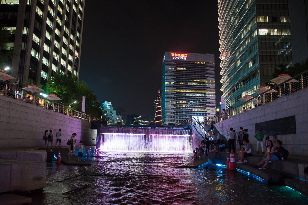 night view of the river in seoul korea