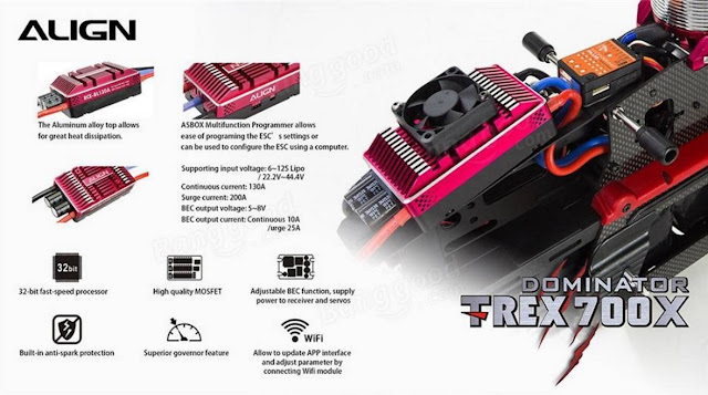 RC Helicopter Super Combo Align TREX 700X Dominator 8