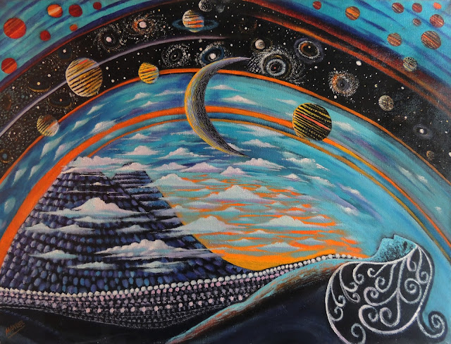 Manuel Carmona pintura naíf cosmos