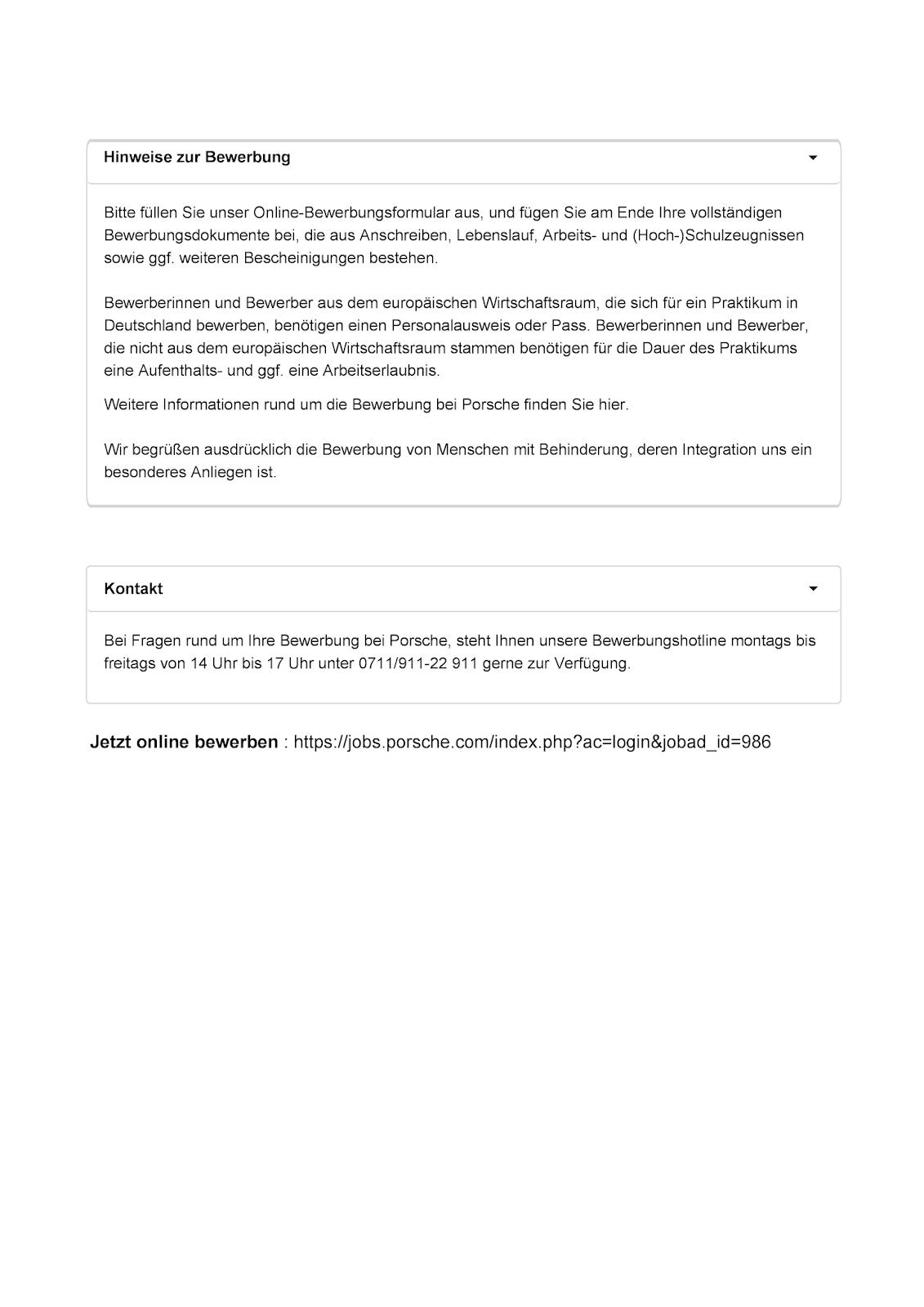 Onlinebewerbung Was Porsche Henkel Co Fur Angaben Fordern 9
