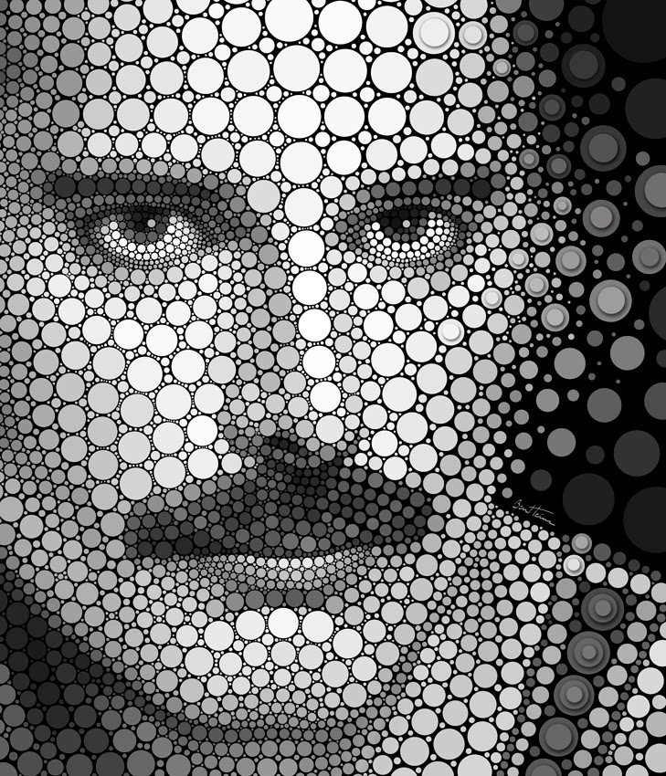 04-Freddie-Mercury-Ben-Heine-Painting-&-Sculpture-Digital-Circlism-Portraits-www-designstack-co