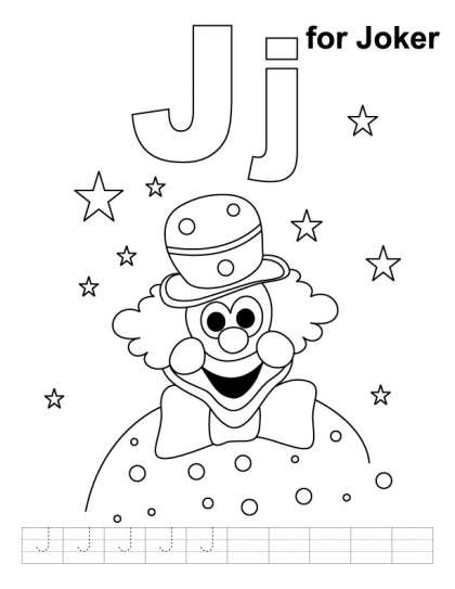 j for jug coloring pages - photo #40