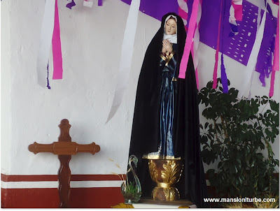 Altar of Lady of Sadness during the Holy Week in Patzcuaro