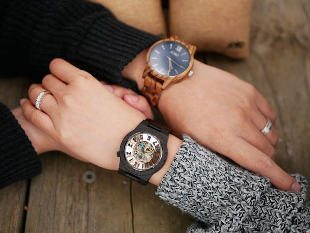 His and Hers Jord wood watch
