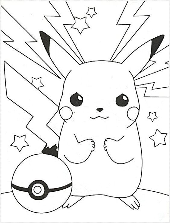 Tranh tô màu Pokemon 79