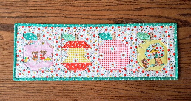 Apple Farm Table Runner and Patchwork Pillow by Heidi Staples of Fabric Mutt
