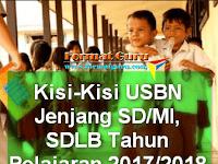 Kisi-Kisi USBN Jenjang SD/MI, SDLB Tahun Pelajaran 2017/2018
