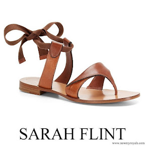 Meghan Markle wore Sarah Flint Grear Lace Up Sandals