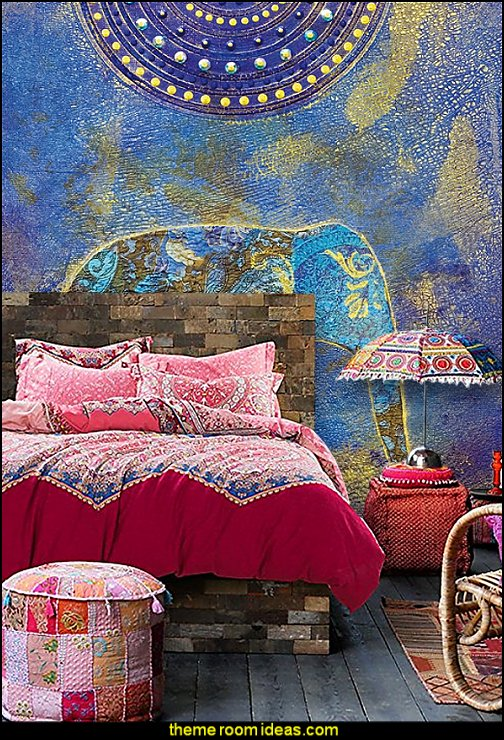 boho exotic Moroccan Bedding, Bohemian Ethnic Style Bedding, Boho Duvet Cover Set, Boho Bedding