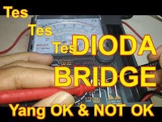 Dioda merupakan komponen elektronik aktif yang terbuat dari bahan semikonduktor Cara Cek Dioda Dengan Multimeter Analog Dan Digital