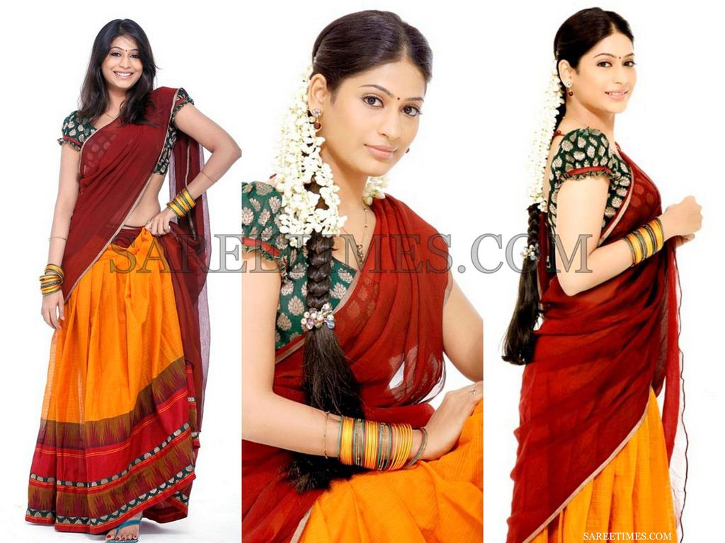 Homely Indian Girls In Half Saree Chennai Homely Girls In -6064
