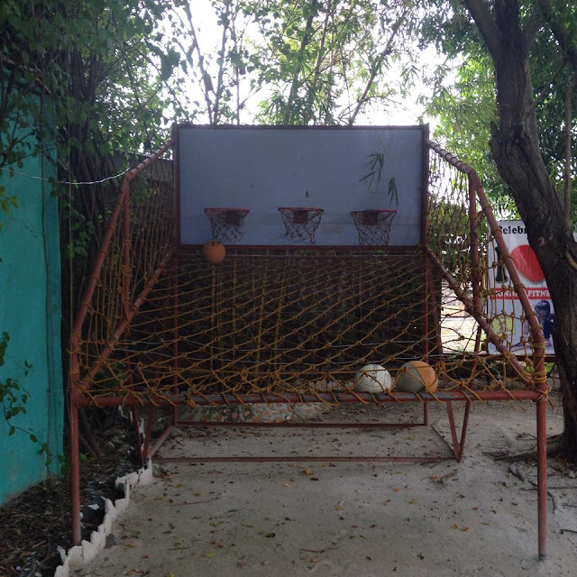 basketball shooting arcade at Alta Cebu Resort