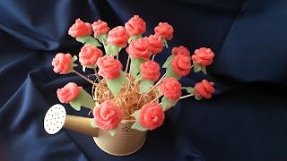 rosas gominola chuchería lengua fresa regalo original ramo cuca