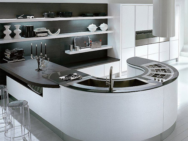 Modern Perfect Black and White Kitchen Design Ideas 2016 Photo Gallery