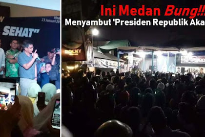 Ini Medan Bung! Sambutan Masyarakat Medan kepada 'Presiden Republik Akal Sehat' Rocky Gerung Bikin Merinding