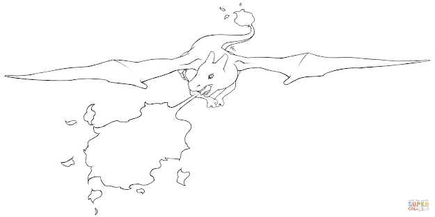 Click The Charizard Coloring Pages