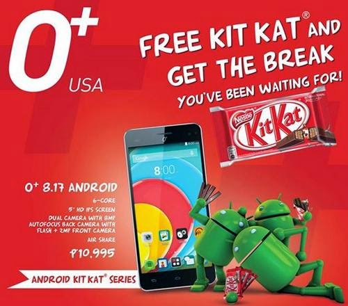 O+ 8.17, 5-inch HD Hexa Core Android KitKat Phablet for Php10,995