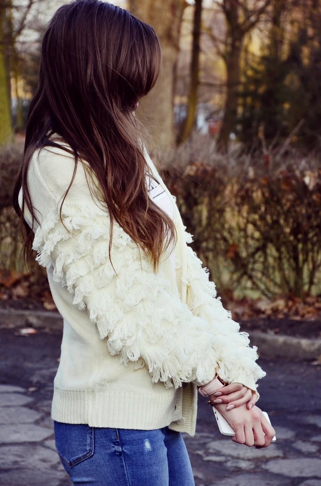 beautiful sweater with FRINGE   BONPRIX ♥