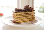 Cara Membuat Cake Lapis Panggang Ganache Kacang Mocca
