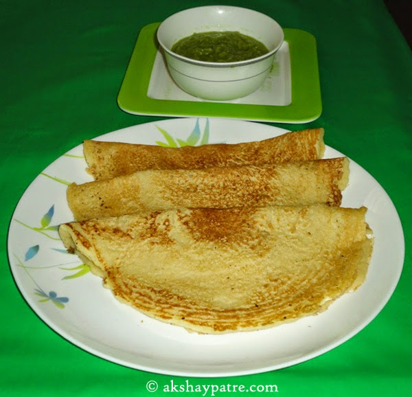 dal dosa prepared - preparing dal dosa recipe