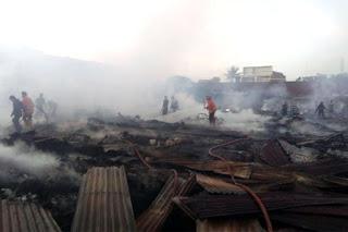 Jumlah Kerugian Kebakaran Pasar Tempe