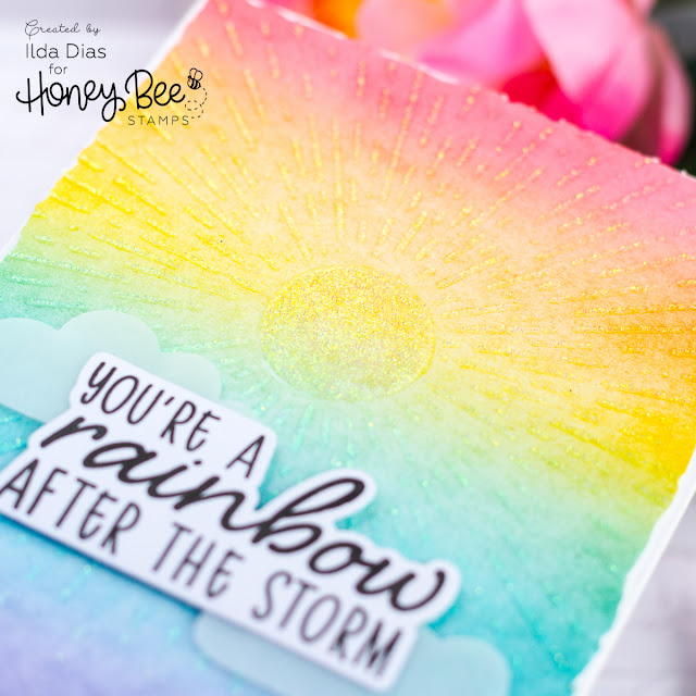 Rainbow After the Storm for Honey Bee Stamps Happy BEE Day Release Preview by ilovedoingallthingscrafty.com