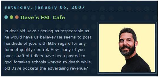 TEFL Job Review: Dave's ESL Cafe  TEFL Job Review...