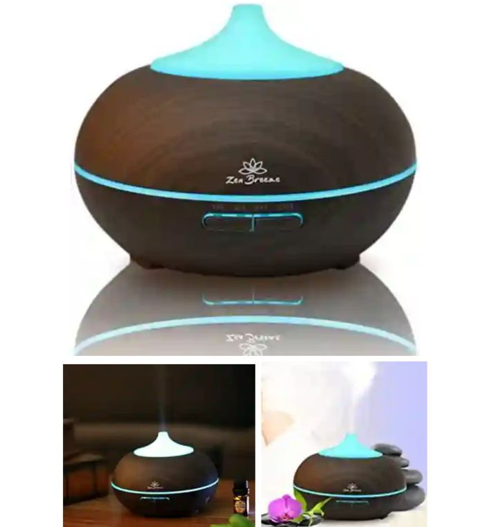 ZB Aromatherapy Essential Oil Diffuser with Colorful LED Lights - Zen Breeze