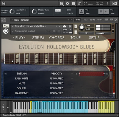 Orange Tree Samples - Evolution Hollowbody Blues Screenshot 1