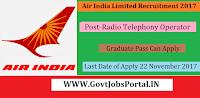 Air India Recruitment 2017– Radio Telephony Operator