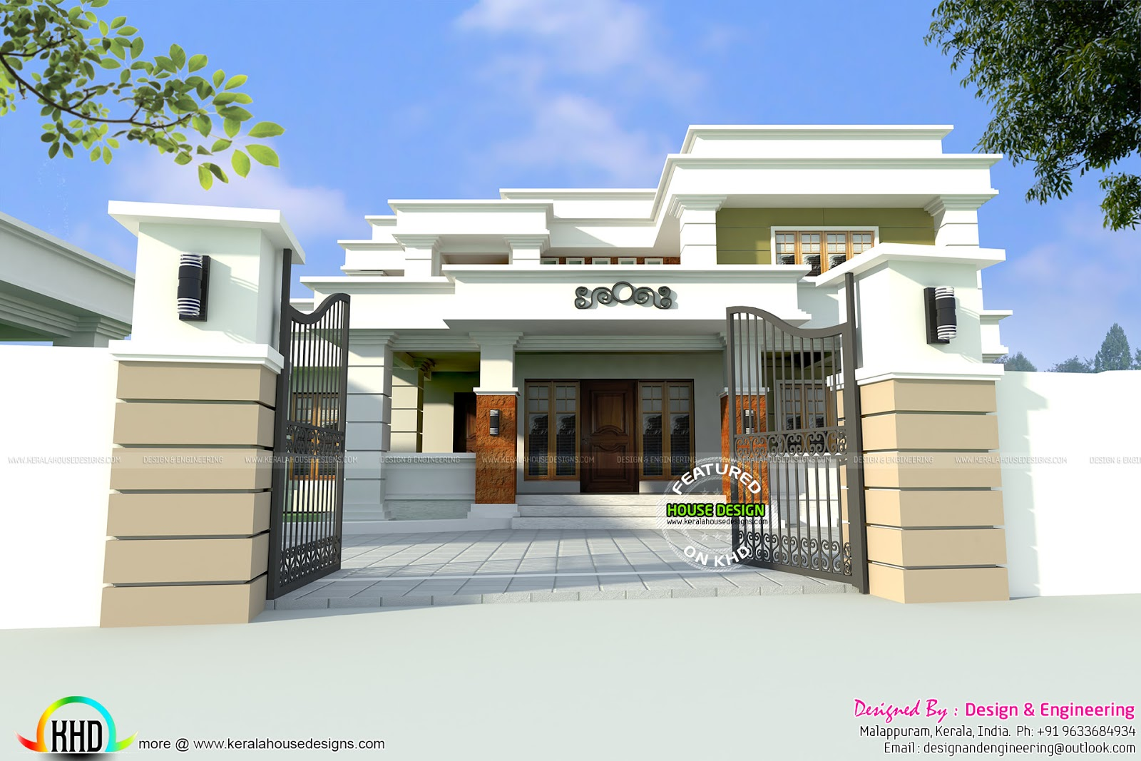 Home outlook design modern house