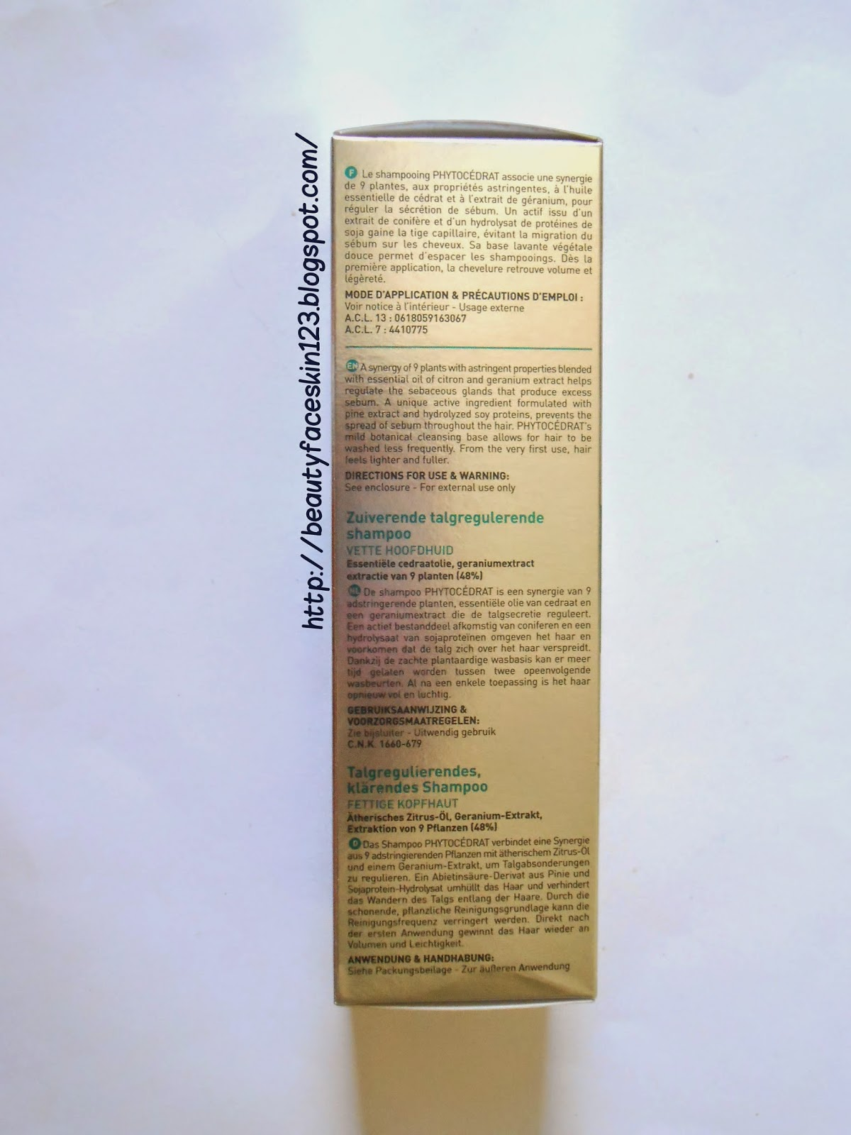 PHYTO PARIS PHYTOCEDRAT- PURIFYING TREATMENT SHAMPOO FOR OILY SCALP