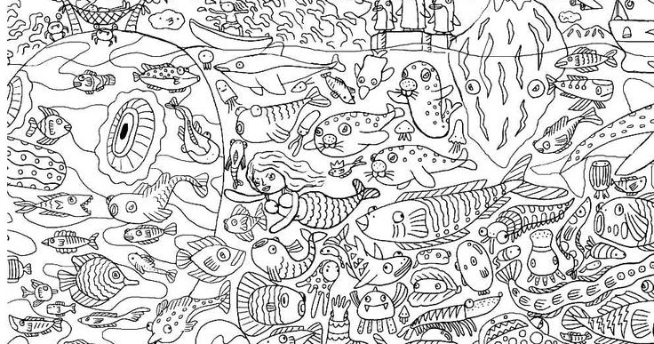 Coloring Page World Under The Sea Portrait