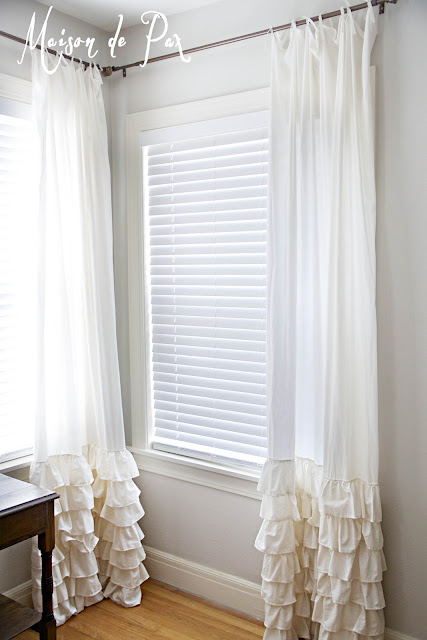 Make these DIY Ruffled Curtain- Maison de Pax