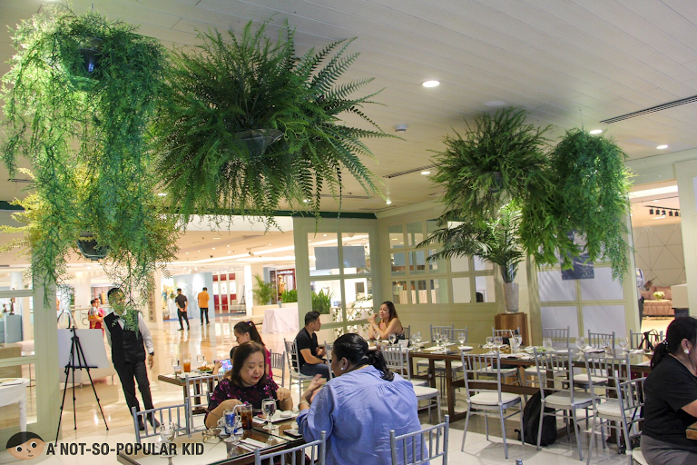 Interior of pop-up restaurant by The Plaza in Rustan's, Glorietta