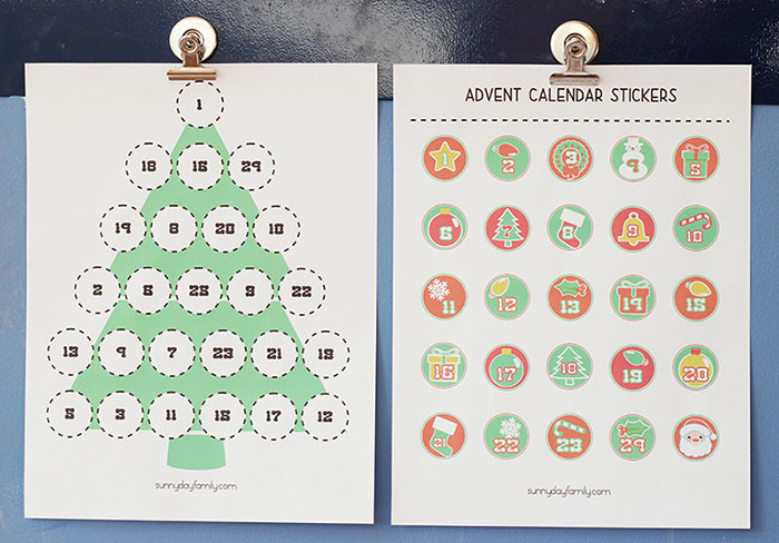 Free Printable Advent Calendar For Kids Sunny Day Family