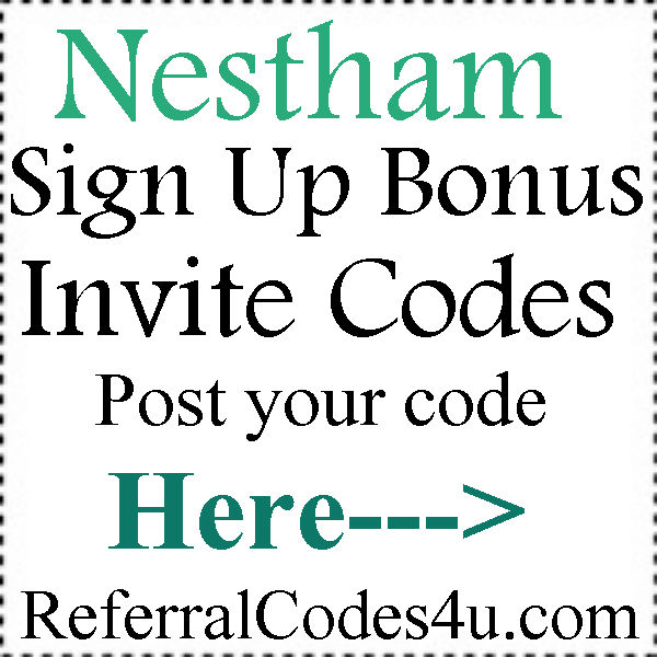Nestham App Referral Codes 2016-2017, Nestham Mobile Download, Nestham Sign Up Bonus