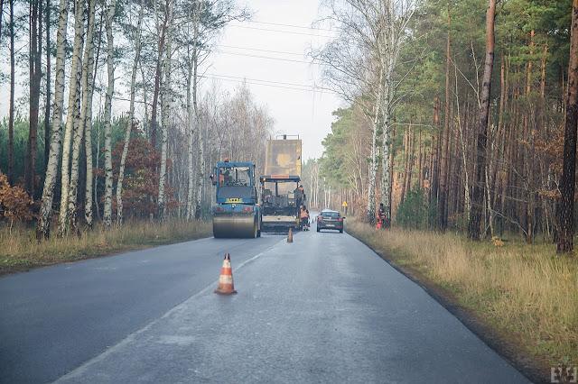 Remont drogi dojazdowej do Miedzynia Bydgoszcz Białe Błota