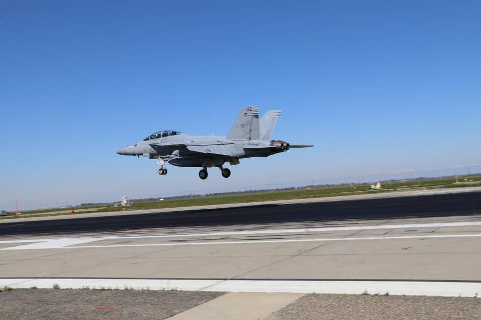 Kathryn's Report: Navy pilots train for carrier landings