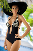 Costum de baie Monique black-cream (Marko)