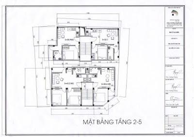 Mặt bằng căn hộ chung cư mini Minh Đại Lộc 3