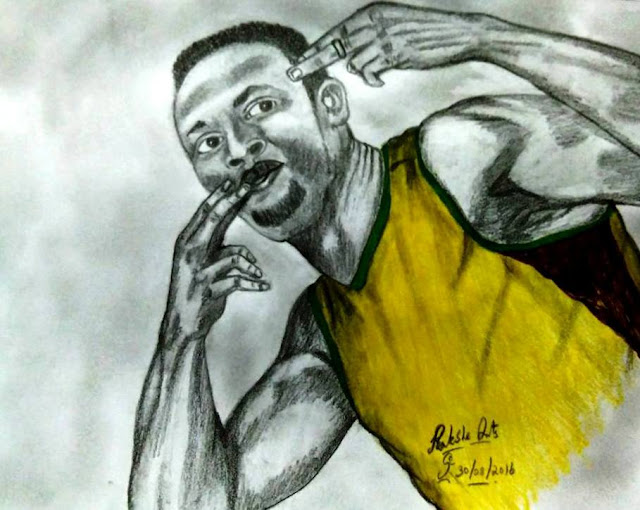 PENCIL DRAWING - Usain Bolt