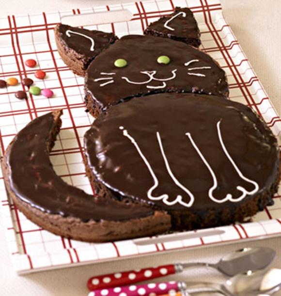 Gâteau D'Anniversaire Chat Au Chocolat