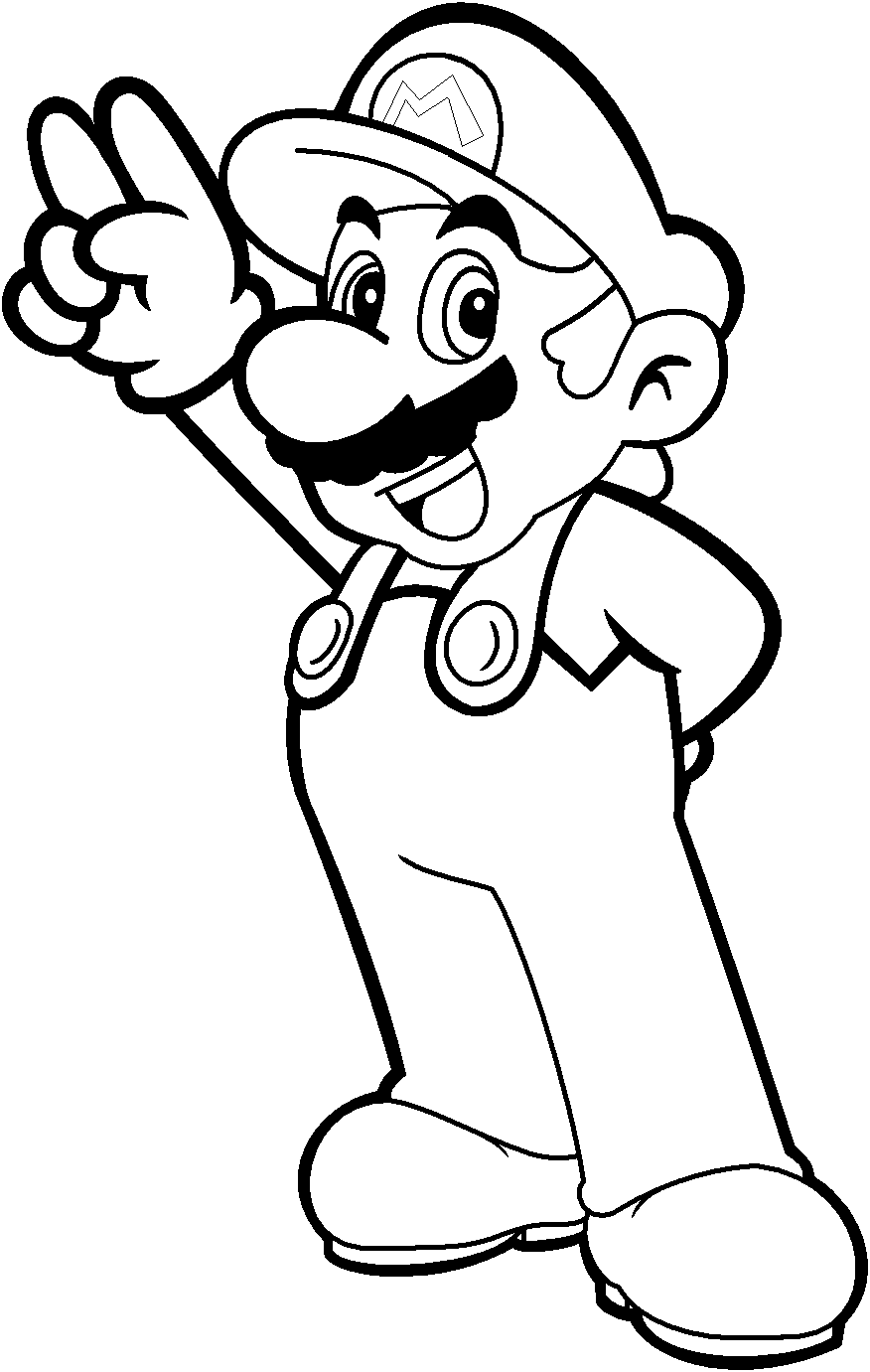 Coloring Pages Mario Coloring