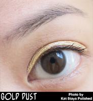 Jesse's Girl Cosmetics - Fluid Shadows - Gold Dust | Kat Stays Polished