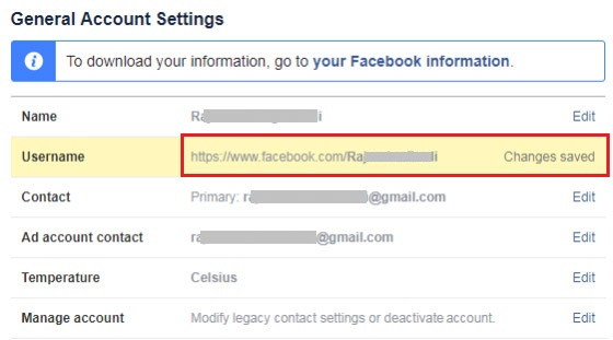 how to get custom url in facebook