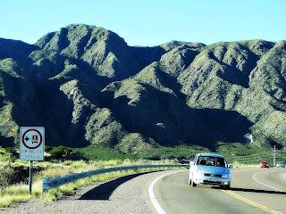Ruta Nacional 7, em Potrerillos
