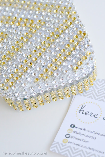 Here Comes the Sun:  Bling Out Your Business Card Holder Tutorial